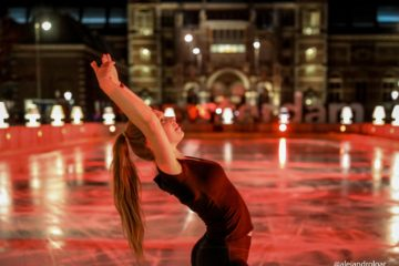 Lotta Breed traint in Amsterdam schaatsshow